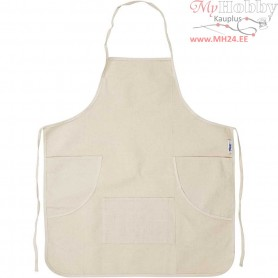 Apron, size 68x78 cm,  280 g, light natural, 1pc