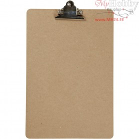 Clipboard, A4 23x34 cm, thickness 3 mm, silver, MDF, A4, 1pc
