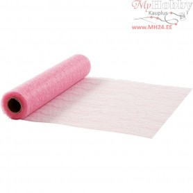 Table Runner, rose, W: 30 cm, net, 10m