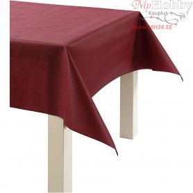 Imitation Fabric Table Cloth, claret, W: 125 cm,  70 g/m2, 10m