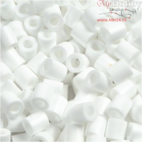 Fuse Beads, size 5x5 mm, hole size 2,5 mm, white (15), Medium, 6000pcs