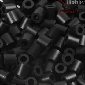 Fuse Beads, size 5x5 mm, hole size 2,5 mm, black (1), medium, 1100pcs