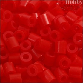 Fuse Beads, size 5x5 mm, hole size 2,5 mm, light red (19), medium, 6000pcs