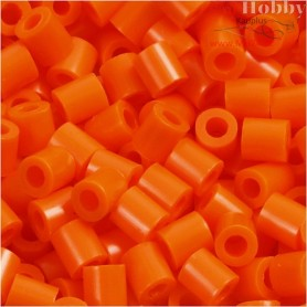 PhotoPearls, size 5x5 mm, hole size 2,5 mm, clear orange (13), 1100pcs