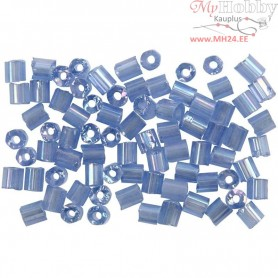 Rocaille Seed Beads, size 6/0 , D: 4 mm, pigeon blue, 2-cut, 500g, hole size 0,9-1,2 mm