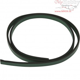 Faux Leather Belt, W: 10 mm, thickness 3 mm, green, 1m
