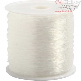 Elastic Beading Cord, thickness 0,5 mm, round, 100m