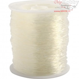 Elastic Beading Cord, thickness 1 mm, round, 50m