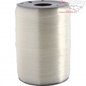 Elastic Beading Cord, thickness 0,5 mm, round, 1000m