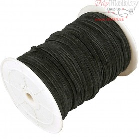 Faux suede cord,  3 mm, black, 100m