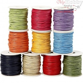Cotton Cord, thickness 2 mm, bold colours, 10x25m