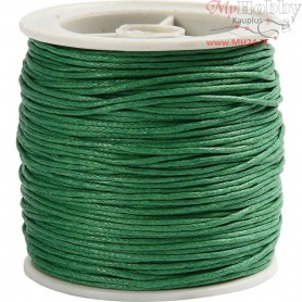 Cotton Cord,  1 mm, green, 40m