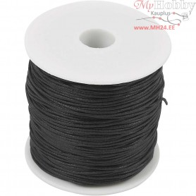 Cotton Cord, thickness 0,6 mm, black, 100m