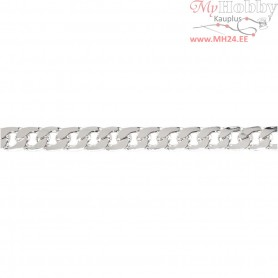Chain, W: 8 mm, silver-plated, 1m