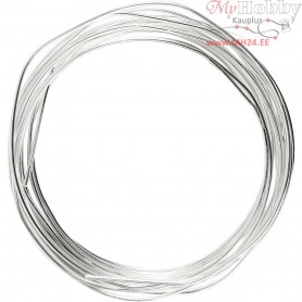 Silver-plated Wire, thickness 1,2 mm, silver-plated, 3m