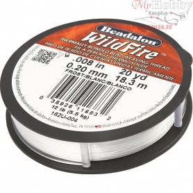 Jewellery Wire, thickness 0,20 mm, white, 18,3m