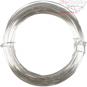 Silver-plated Wire,  100 g, thickness 0,8 mm, silver-plated, 24m