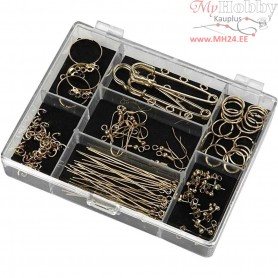 Jewellery Finding Starter Kit, gold-plated, 1set