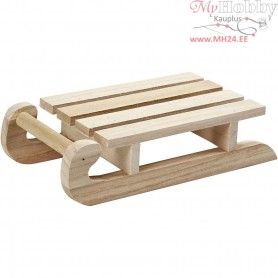Sledge, size 19,5x10x5 cm, empress wood, 1pc