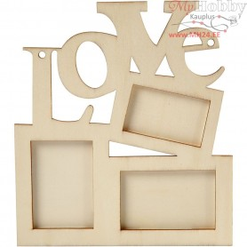 Frame, size 19,7x16 cm, thickness 7 mm, plywood, 1pc