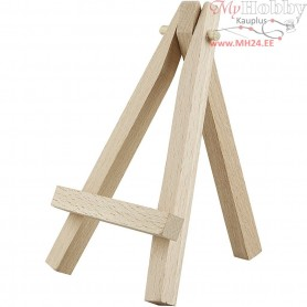 Mini Easel, H: 12 cm, pine, 1pc