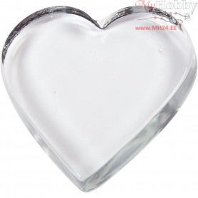 Heart, size 9x9 cm, thickness 15 mm, 1pc