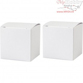 Folding box, size 5,5x5,5 cm,  120 g, white, 10pcs