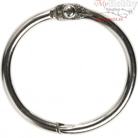 Book Ring, inner size 25 mm, thickness 2,7 mm, 10pcs