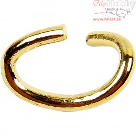 Oval Jump Rings, thickness 0,7 mm, inner size 2,5x4 mm, gold-plated, 50pcs