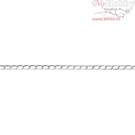 Chain, W: 6 mm, silver-plated, 5m