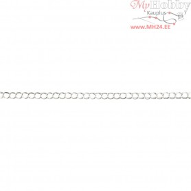 Chain, W: 10 mm, silver-plated, 3m