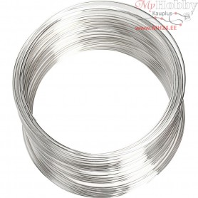 Memory Wire, thickness 0,8 mm, D: 6 cm, silver-plated, 1pc, approx. 11,5 m