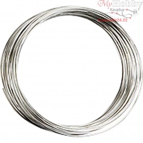 Memory Wire, thickness 0,7 mm, D: 5 cm, silver-plated, 1pc, approx. 9,7 m