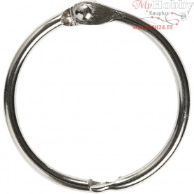 Book Ring, inner size 32 mm, thickness 2,7 mm, 8pcs