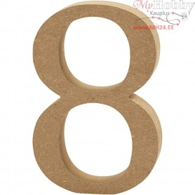 Number, 8, H: 8 cm, thickness 1,5 cm, MDF, 1pc