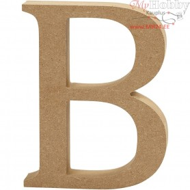 Letter, B, H: 8 cm, thickness 1,5 cm, MDF, 1pc
