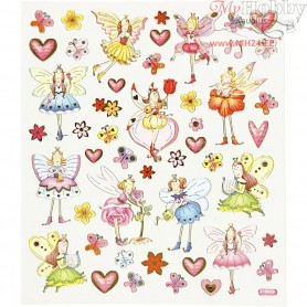 Fancy Glitter Stickers, sheet 15x16,5 cm, elves, 1sheet