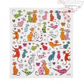 Fancy Stickers, sheet 15x16,5 cm, Cats, 1sheet
