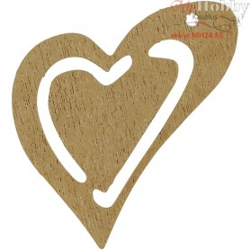 Heart, sand, size 25x22 mm, thickness 1,7 mm, 20pcs
