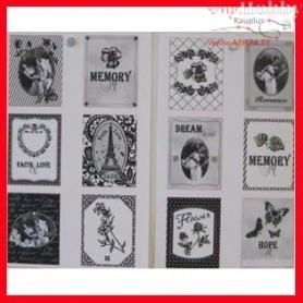 Stickers, size 3x4 cm, sheet 9x14 cm, 4mixed sheets