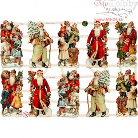 Vintage Die-Cuts, sheet 16,5x23,5 cm, christmas music, 3sheets