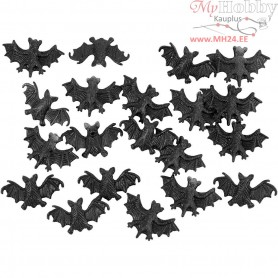 Bat, size 15x25 mm, 20pcs