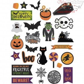 Gift Tags, size 20-100 mm,  250 g, halloween, 48pcs
