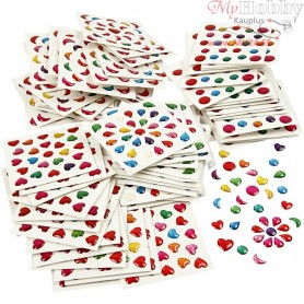 Mini Stickers, size 7-11 mm, 100sheets
