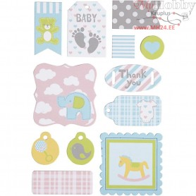 Self-adhesive Tags, size 20-50 mm, baby, 1sheet
