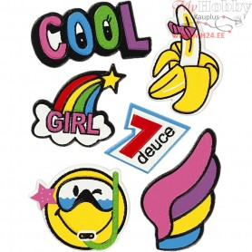 Soft Stickers, sheet 12,2x17,75 cm, Cool Girl, 1sheet