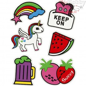 Soft Stickers, sheet 12,2x17,75 cm, Keep on, 1sheet