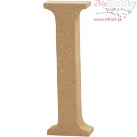 Letter, I, H: 13 cm, thickness 2 cm, MDF, 1pc