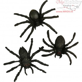 Spiders, size 4 cm, 60mixed