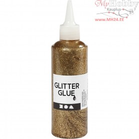 Glitter Glue, gold, 118ml